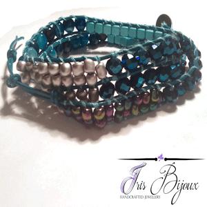 bratara-thailandeza-cu-agate-albastre-cristale-si-pietre-de-turquoise