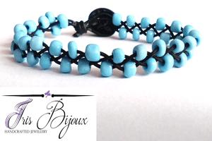 bratara-unisex-impletita-cu-margele-de-nisip-bleu