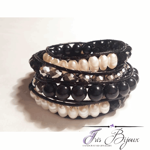 Bratara thailandeza handmade cu perle de cultura
